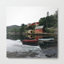 Harbour in Norway Metal Print