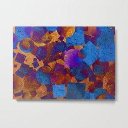 Blue and Orange Metal Print