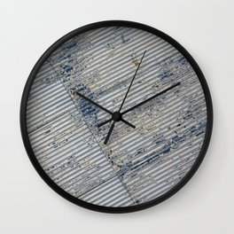 Warehouse District -- Rustic Farm Chic Abstract Wall Clock