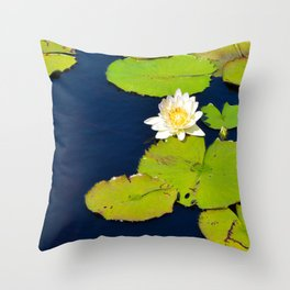 Dark Blue Pond by Teresa Thompson Throw Pillow