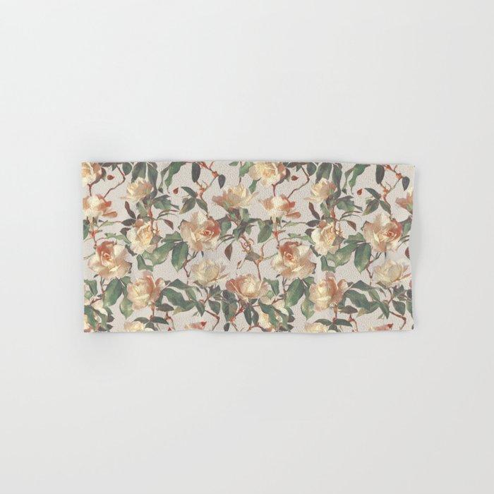 Soft Vintage Rose Pattern Hand & Bath Towel