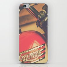 Vintage Triumph Bonneville Motorcycle iPhone & iPod Skin