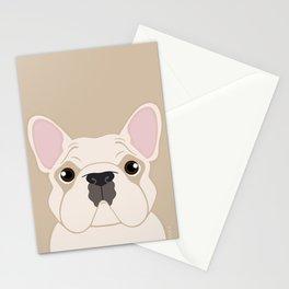 Frenchie - Cream Stationery Cards