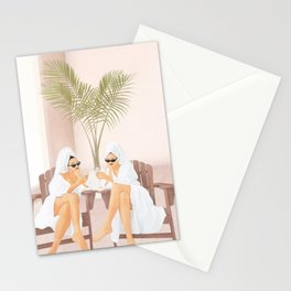 Morning with a friend III Stationery Cards