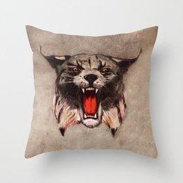 Savage Bobcat Throw Pillow