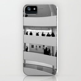 People at Guggenheim Museum iPhone Case