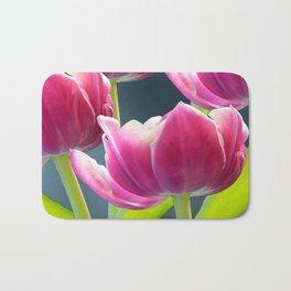 Tulip Bouquet Spring Atmosphere #decor #society6 #buyart Bath Mat