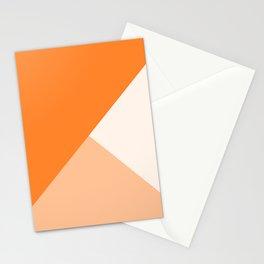 Trinity Color Block Orange Tumeric  FF842A Stationery Cards