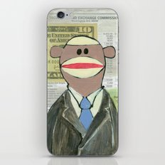 Sock Monkey 129: The Bean Counter iPhone & iPod Skin