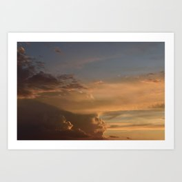 Cloud Speed Art Print