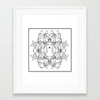 matisse Framed Art Prints featuring Para Matisse/ To Matisse by Luiza T. Vesey