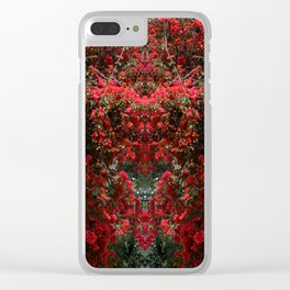 Mirrored Trees 11 Clear iPhone Case