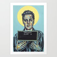 elvis presley Art Prints featuring Presley, Elvis by Natalie Bessell