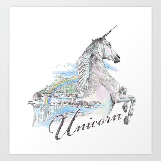 Unicorn classic Art Print