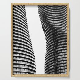 Curve Twins | Architecture | CityLandscape | City Photography | Minimalist | B&W Serving Tray