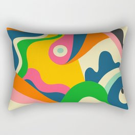 Colorful Mid Century Abstract  Rectangular Pillow