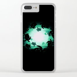 Dancing Turtles Clear iPhone Case