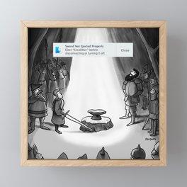Ejected Excalibur  Framed Mini Art Print