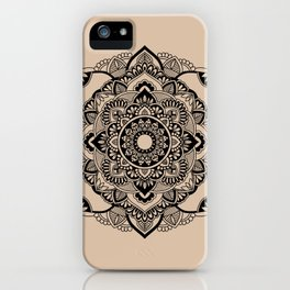 Peaceful Mandala Beige Background iPhone Case