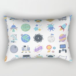 CUTE OUTER SPACE / SCIENCE / GALAXY PATTERN Rectangular Pillow