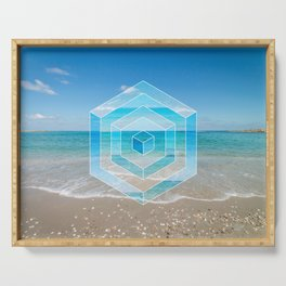 Sacred Geometry Seaview Serving Tray