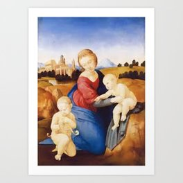 madonna with child Art Print