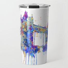 Tower Bridge watercolor Travel Mug