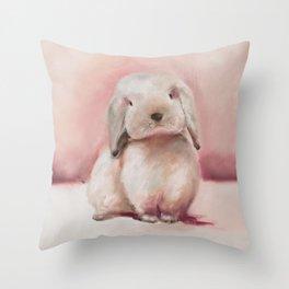 Lucky Bunny Throw Pillow