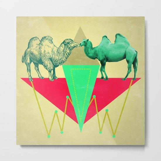 Camel Kiss Metal Print