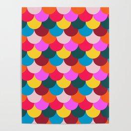 Scalloped Confetti in Mod Multi Poster