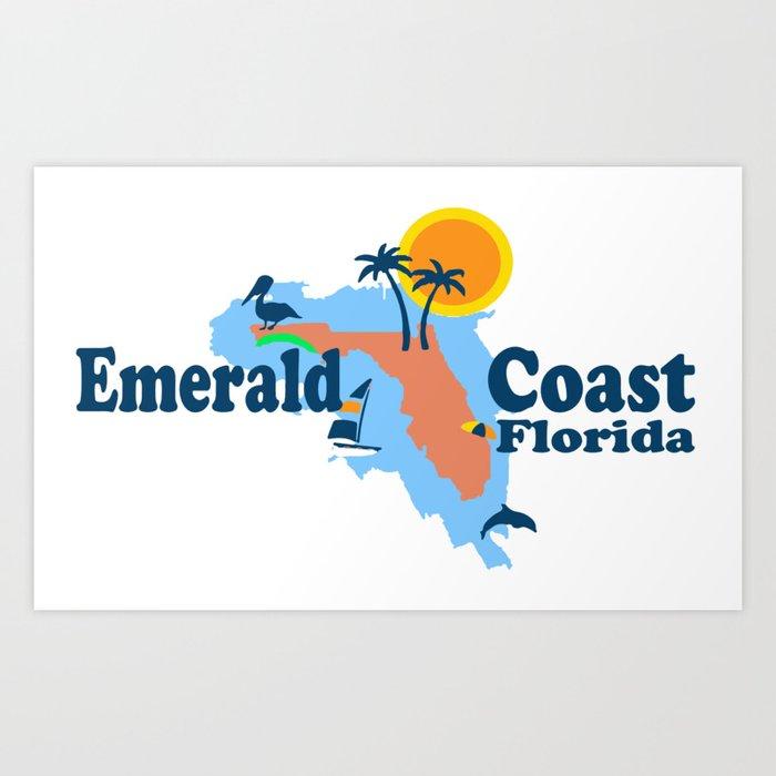 Emerald Coast - Florida . Art Print
