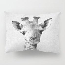 Baby Giraffe - Black & White Pillow Sham