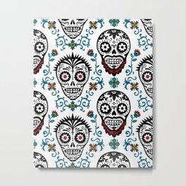 Sugar Skull Voodoo  Metal Print