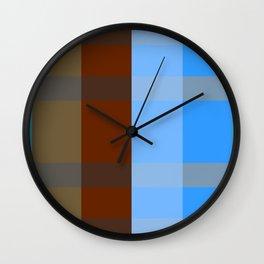 Chocolate Denim Wall Clock