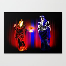 Mairon and Melkor (Lynch Aesthetics) Canvas Print