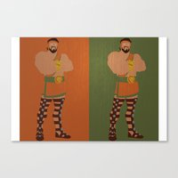 hercules Canvas Prints featuring Hercules by Young Jake