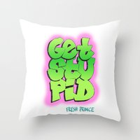 fresh prince Throw Pillows featuring Fresh Prince by DeMoose_Art