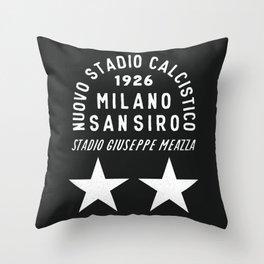 Milan Football Ground Throw Pillow