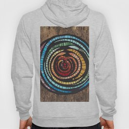 Abstract Mosaic Color Wheel Hoody