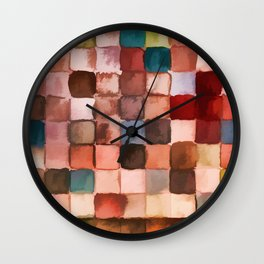 Colorful gift - Geometric watercolor Wall Clock