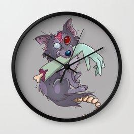Rufus the zombie dog Wall Clock