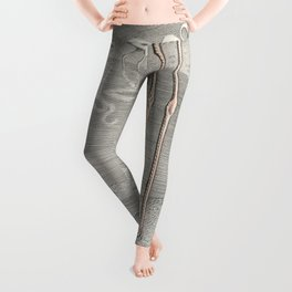 Exotic Flamingo Bird - Minimalism Drawing Leggings