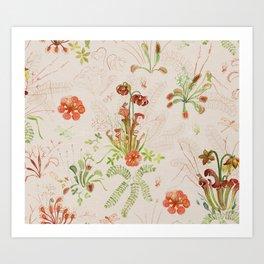 Carnivorous Floral Art Print