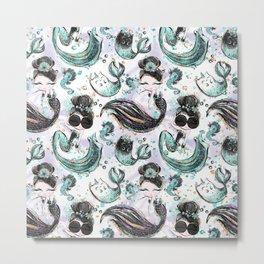 Audrey Mermaid Pattern 04 Metal Print