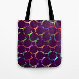 Rainbow mermaid bubble circle brush print Tote Bag