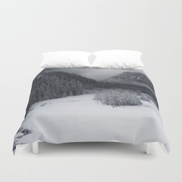Snowy Morning Duvet Cover