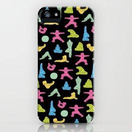 Rainbow Yoga Pattern iPhone Case