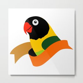 Bird Watching Lovebird Logo Metal Print