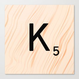Scrabble Letter K - Large Scrabble Tiles Canvas Print