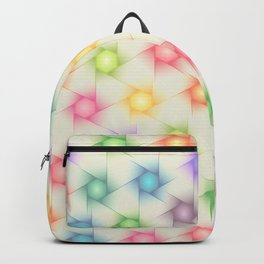 Colorful Polygon Pattern Backpack